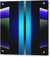 Double Edged Blue Acrylic Print