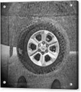 Double Exposure Manhole Cover Tire Holga Photography Acrylic Print