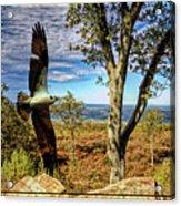 Double Exposure Osprey And High Point Nj Acrylic Print
