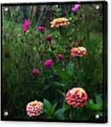 Double Framed Floral Acrylic Print