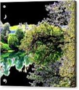 Double Moon Acrylic Print