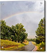 Double Rainbow At Devils Tower Acrylic Print