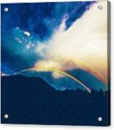 Double Rainbow Over Provo, United States Acrylic Print