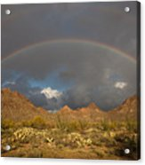 Double Rainbow Tucson Arizona Acrylic Print