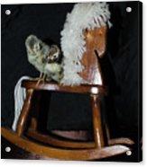 Double Seat Rocking Horse Acrylic Print