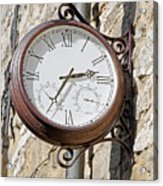 Double Sided Station Clock - Bakewell Acrylic Print