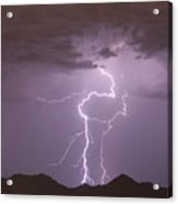 Double Trouble Fine Art Lightning Photography Acrylic Print