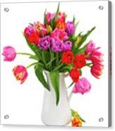 Double Tulips Bouquet Acrylic Print