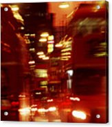 Doubledecker Bus Blur London Acrylic Print