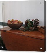Dough Box Table At Christmas Acrylic Print