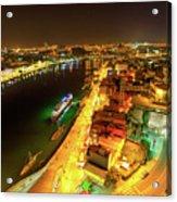 Douro River Skyline Night Acrylic Print