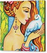 Dove Fairy Acrylic Print