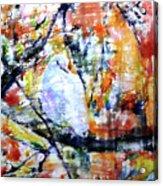 Dove On The Yellow Tree Acrylic Print