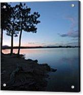 Dowdy Lake Silhouette Acrylic Print by James Steele