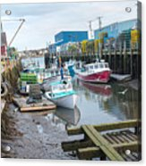 Down At Widgery Wharf Acrylic Print