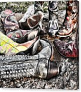 Down Boots Up Boots Acrylic Print