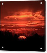 Down For The Count Sunset Art Acrylic Print