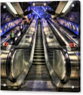 Down From A Cloud. Up From The Underground. Acrylic Print