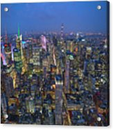 Down In The City  Acrylic Print