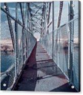 Down The Bridge Acrylic Print