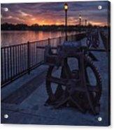 Down The Overholser Dam Acrylic Print