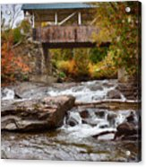 Down The Road To Greenbanks's Hollow Covered Bridge Acrylic Print