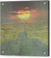 Downhill Sunset Acrylic Print