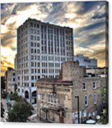Downtown Appleton Skyline Acrylic Print by Mark David Zahn