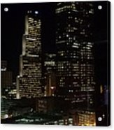 Downtown Atlanta Lights Acrylic Print