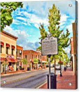 Downtown Blacksburg With Historical Marker Acrylic Print