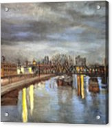Downtown Bridge Acrylic Print