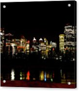 Downtown Calgary At Night Acrylic Print