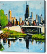 Downtown Chicago From Lincoln Park Acrylic Print