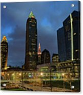 Downtown Cleveland At Dusk Acrylic Print