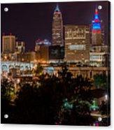 Downtown Cleveland Veteran Memorial Bridge  Acrylic Print