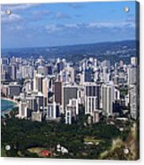 Downtown Honolulu  Acrylic Print