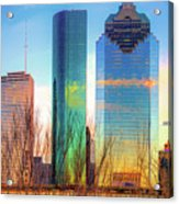 Downtown Houston Texas Skyline  Acrylic Print