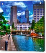 Downtown Indianapolis Canal Acrylic Print