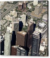 Downtown Los Angeles From Above Acrylic Print