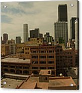 Downtown Los Angeles Panorama Acrylic Print