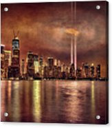 Downtown Manhattan September Eleventh Acrylic Print by Chris Lord