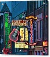 Downtown Nashville At Dusk Acrylic Print