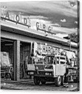 Downtown Northampton - Harold's Garage Acrylic Print by HD Connelly