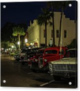 Downtown Old Cars Acrylic Print