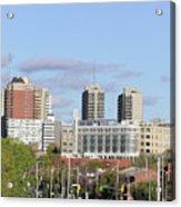 Downtown Ottawa In Distance Acrylic Print by Richard Mitchell
