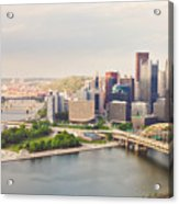 Downtown Pittsburgh Pennsylvania Acrylic Print