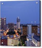 Downtown San Antonio At Night Acrylic Print