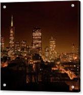 Downtown San Francisco At Night Acrylic Print