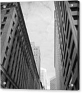 Downtown San Francisco Street View - Black And White 2 Acrylic Print