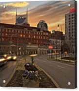 Downtown Sunset Acrylic Print by Steven  Michael